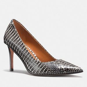 0f010d3ef13 Coach Shoes - Beadchain Snakeskin Pumps